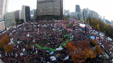 Thousands join protest calling for South Korean president to step down