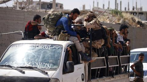 Syria rebels begin evacuating 'cradle' of 2011 revolt