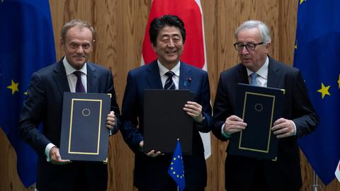 EU, Japan sign massive trade deal amid Trump trade war