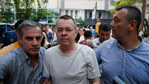 Key events in US pastor Brunson case