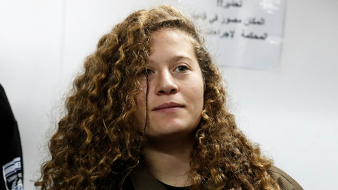Palestinian teenager Ahed Tamimi prepares for freedom