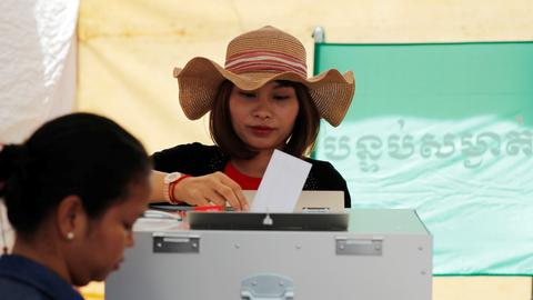 Cambodia's ruling party claims election victory — spokesman