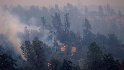 California wildfire rages on for a seventh day