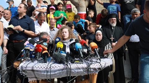 Palestinian teenager Tamimi vows to continue resistance