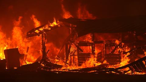 In pictures: California wildfires rage on