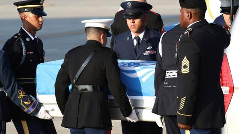 Presumed US war remains begin journey home from South Korea