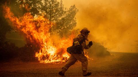 California governor pledges any resources needed for fires