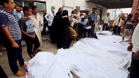 Air strikes kill at least 26 people near hospital  in Yemen's Hudaida