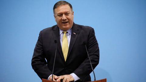 Pompeo calls for pressure to be maintained on North Korea