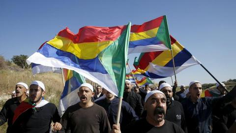 Thousands of Israel's Druze rally against Jewish nation law