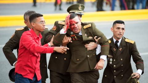Venezuela arrests six after drone explosions during Maduro speech