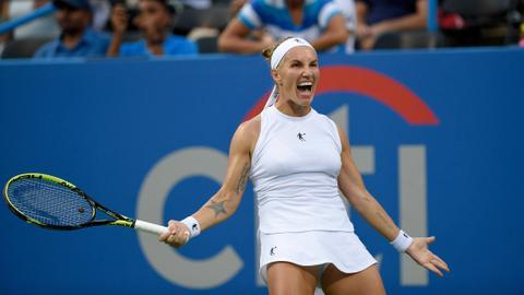 Kuznetsova saves four match points to win Washington title