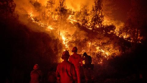 Battling 18 blazes, California may face worst fire season