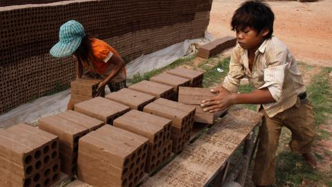 Child labour and debt bondage rife at Cambodia's brick factories