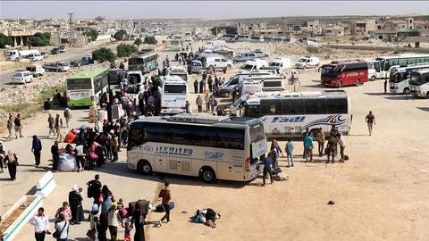 Daraa evacuees bussed to Syrian rebel stronghold