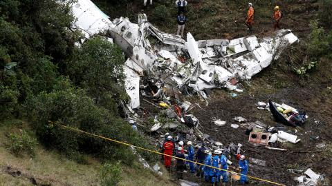 Brazil football club plane crashed after running out of fuel