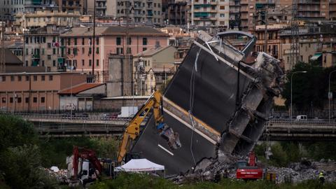 Search for survivors continues as anger mounts over Italy bridge collapse
