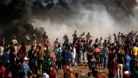 Israeli gunfire kills two Gaza border protesters, Palestinians say