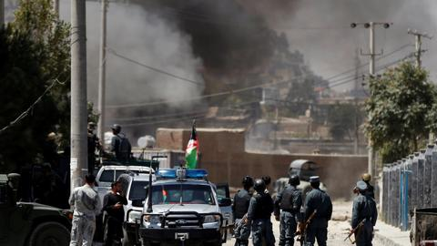 Afghan forces kill militants after mortars hit Kabul