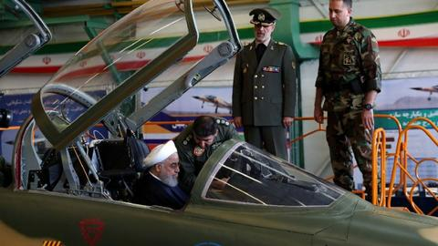 Iran showcases new home-made fighter jet