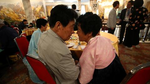 Korean relatives bid emotional farewell after reunions