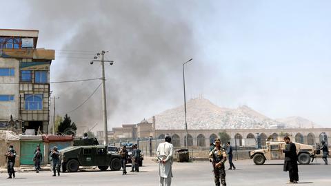 Blasts target major gathering in Afghanistan's Kabul