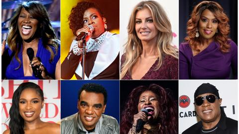 Stevie Wonder, Faith Hill among all-star line-up for Franklin