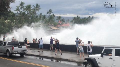 Five tourists rescued from flooded home as storm hits Hawaii