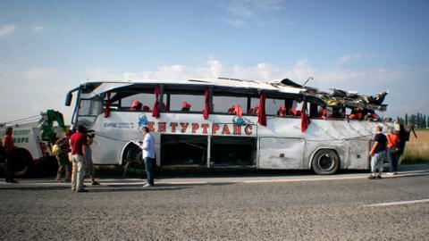 At least 15 killed in tourist bus crash in Bulgaria