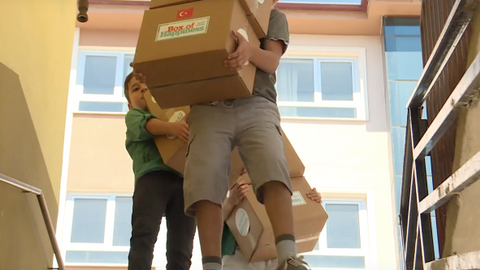 Boxes give Syrian children a little bit of hope