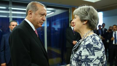 Erdogan, May discuss bilateral ties, regional Issues