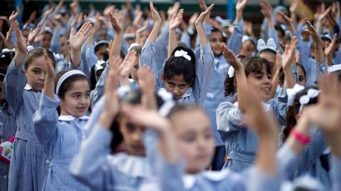 UN schools for Palestinians reopen despite US funding cut