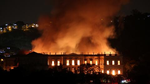 Fire engulfs National Museum, one of Brazil's oldest