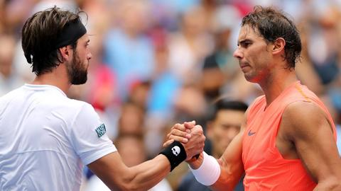 Nadal, del Potro into US open last-eight, while Isner keeps hopes alive