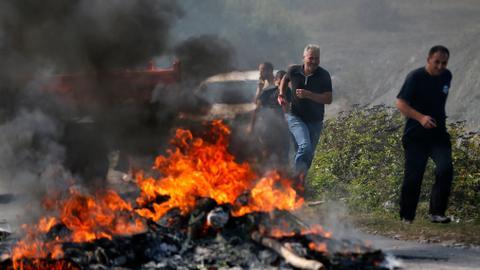 Kosovo Albanians block roads for Serbian president's visit