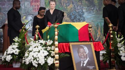 Final farewell to Kofi Annan at Ghana state funeral