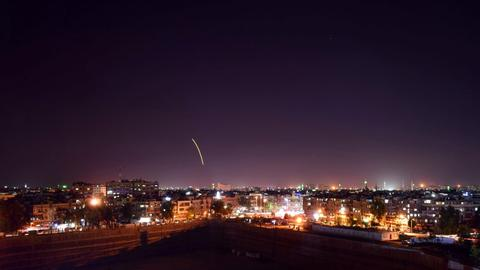 Syrian regime downs Israeli missiles near Damascus airport