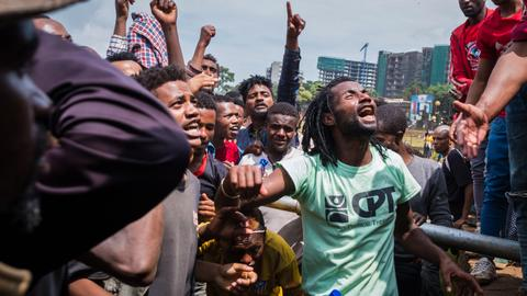 Protests paralyse Ethiopian capital after violence kills 23