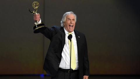 Henry Winkler 'Fonzie' wins Emmy 42 years after first nomination