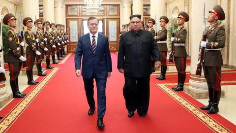 Leaders of two Koreas meet in Pyongyang for talks on ending war