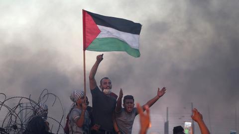 One Palestinian killed, 14 injured in Israeli attacks
