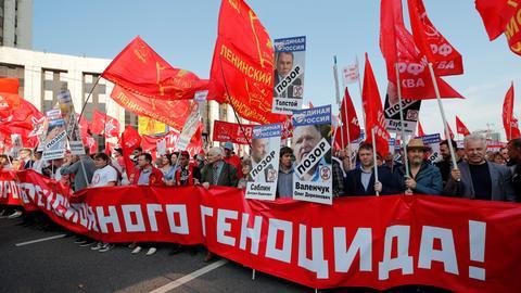 Russians protest against pension reform
