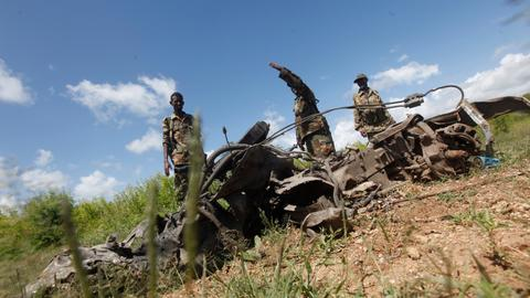 US air strike kills an estimated 18 Al Shabab militants:  US military