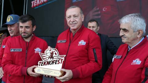 Turkish President Erdogan attends Teknofest Istanbul