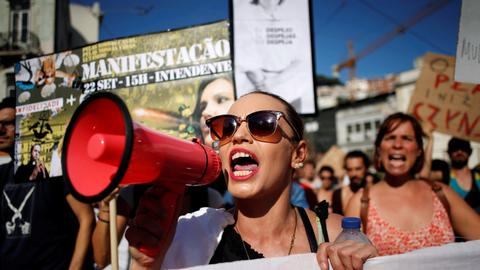 People in Portugal protest rent hikes