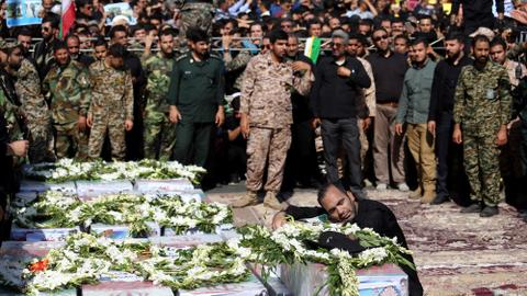 Iran says separatists behind deadly parade attack, 22 arrested