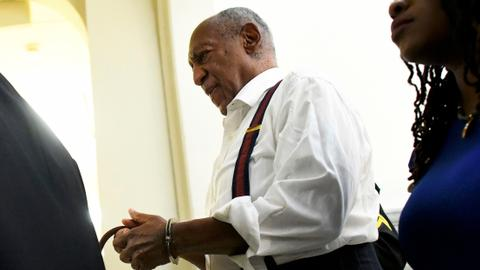 Bill Cosby, in cuffs, imprisoned for up to 10 years for sexual assault
