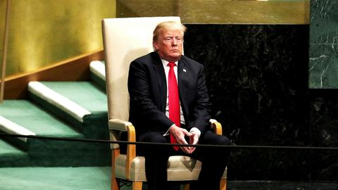 Laughter and disbelief as Trump speaks at the UN