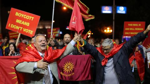 Macedonia PM vows to move on with name change despite referendum failure