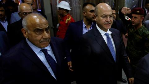 Iraq names new president and premier, ending deadlock